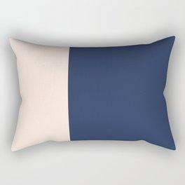 peach and navy stripes, minimalist, simple design, cool, chic, modern, elegant Rectangular Pillow