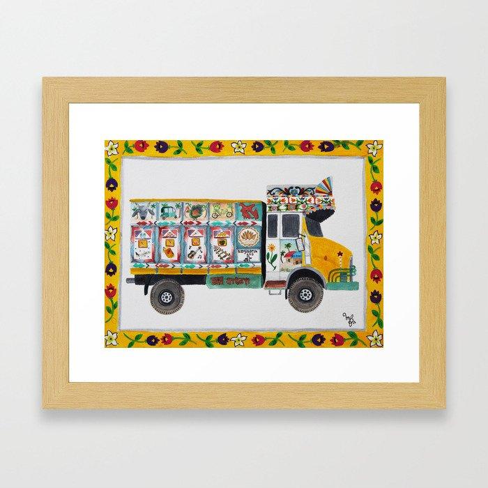 Bangla Truck  Framed Art Print