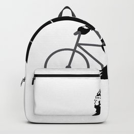 Bigfoot  riding bicycle Backpack