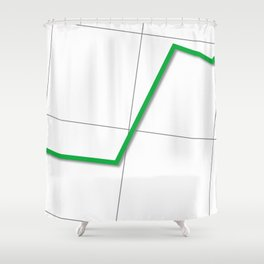 Statistic Up Shower Curtain