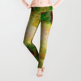 Ginkelmier Land ~ Watercolor Fairy Garden Leggings