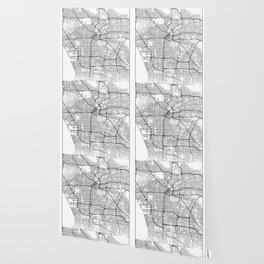 Minimal City Maps - Map Of Los Angeles, California, United States Wallpaper
