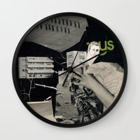 architect Wall Clocks featuring Behind the architect III by Paul Prinzip