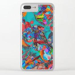 Sea Turtle Rhapsody Clear iPhone Case