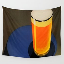 Vintage Blue Gangloff Beer Tall Glass Light Ale Lager Pilsen Poster Advertising Wall Tapestry