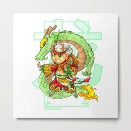 Animal Zodiacs - The Majestic Dragon Metal Print
