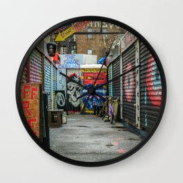 NYC Shops Wall Clock
