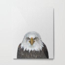 Bald Eagle Print, American Eagle, Bird Animal Photography, Minimalist Metal Print