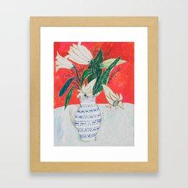 Easter Lily Bouquet Framed Art Print