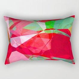 Mixed color Poinsettias 3 Abstract Polygons 2 Rectangular Pillow
