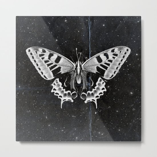 Butterfly in the stars Metal Print