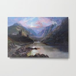 Irish Landscape of Donegal Sunset Mountains and Loch landscape by Lough Beagh  Metal Print