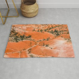Bryce Canyon Hoodoos landscape on Queens Garden Trail Rug