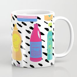 Pop Art Condiments - 80s Quirky Colorful Design Coffee Mug