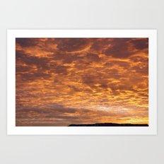 Orangeswept Sky 1 Art Print