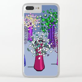 Flowers and Five Vases Clear iPhone Case
