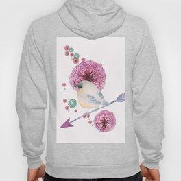 Cute Bird and Dandelion Hoody