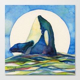 Orca Moon Canvas Print