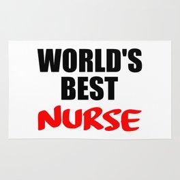 worlds best nurse Rug