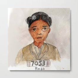 Like a Boss: Rosa Parks Metal Print