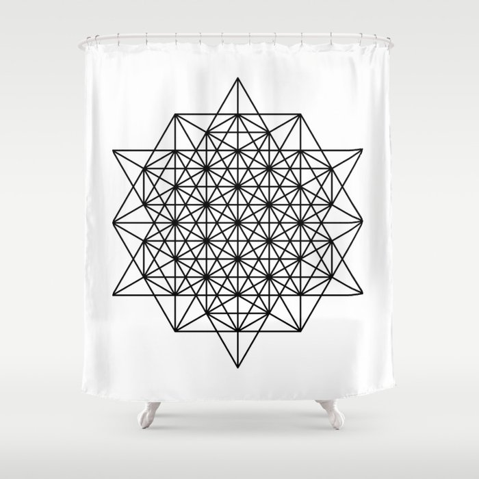 Star Tetrahedron Sacred Geometry Void Theory Shower Curtain