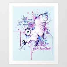 Live Without The Sunlight Owl Art Print