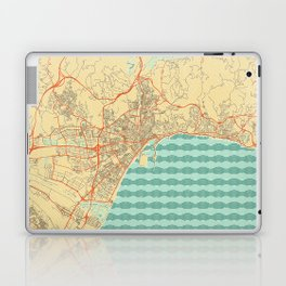Malaga Map Retro Laptop & iPad Skin