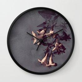 Evening Flowers Wall Clock