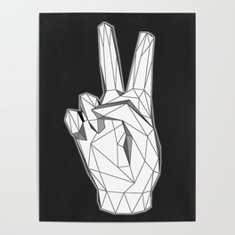Geometric Peace sign Poster