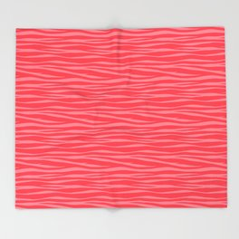 Zebra Print - Coral Macaroon Throw Blanket