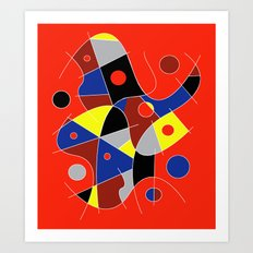 Abstract #222 | The Cellist Art Print