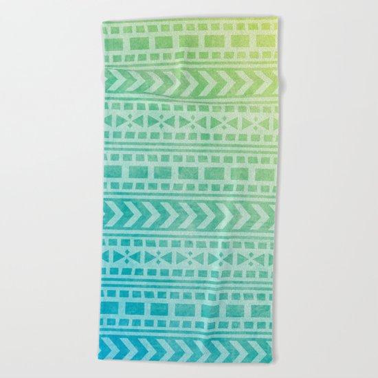 Aztec Pattern 07 Beach Towel