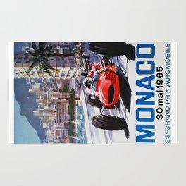 Grand Prix Monaco, 1965, vintage poster, race poster Rug