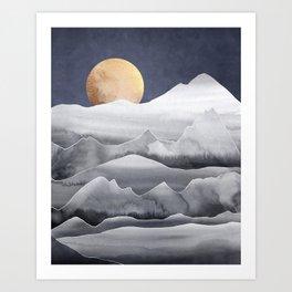 Mountainscape / Night Art Print