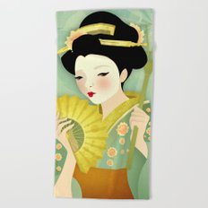 Geisha: Olive Beach Towel