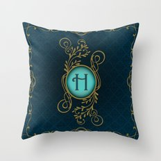 Monogram H Throw Pillow
