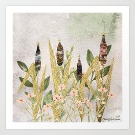 Nature Gold Meadow Art Print
