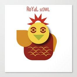 Royal scowl Canvas Print