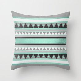 Turquoise Tribal Throw Pillow