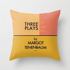 Three Plays By Margot Tenenbaum Throw Pillow