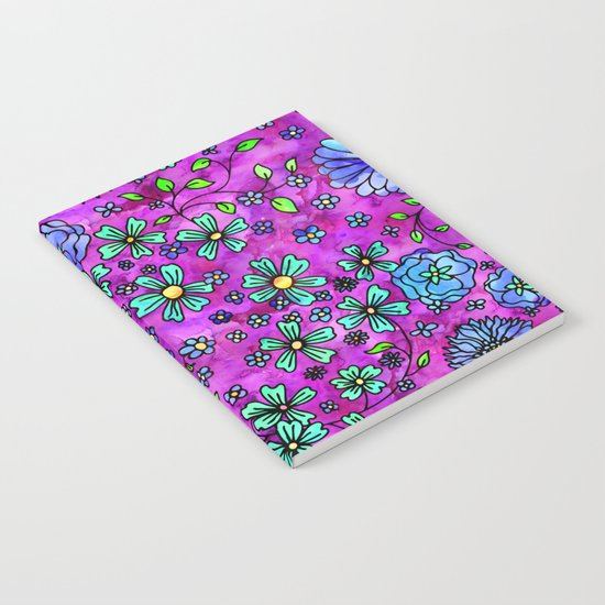 Blue Small Flowers Notebook