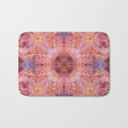 Cosmic Light Mandala Bath Mat