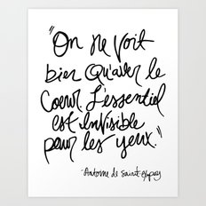 The Little Prince Quote Art Print