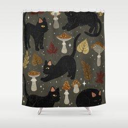 autumn cat magic Shower Curtain