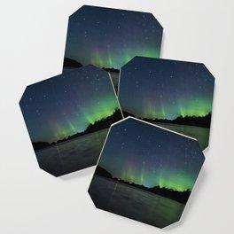 Northern Lights above a lake Coaster