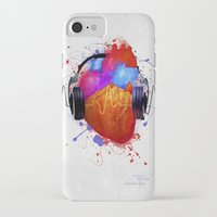 paramore iPhone & iPod Cases featuring No Music - No Life by Sitchko Igor