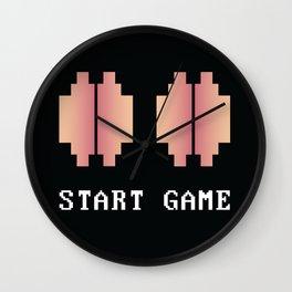 Genital Invaders 4 Wall Clock