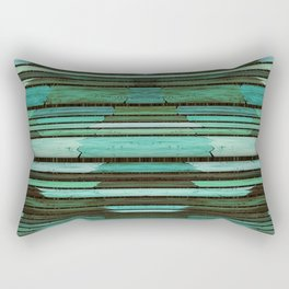 Green Slats Rectangular Pillow