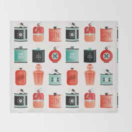 Flask Collection – Red & Turquoise Palette Throw Blanket