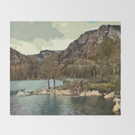 Emerald Bay Lake Tahoe Throw Blanket